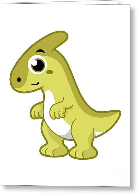 Cute Illustration Of A Parasaurolophus Greeting Card by Stocktrek Images