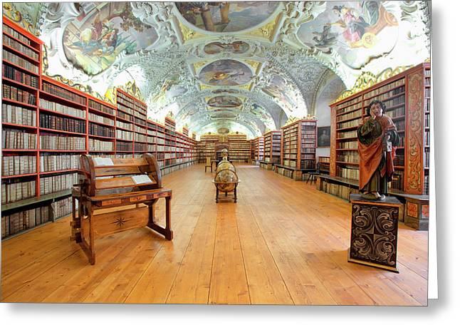 Czech Republic Prague, Strahov Greeting Card by Panoramic Images