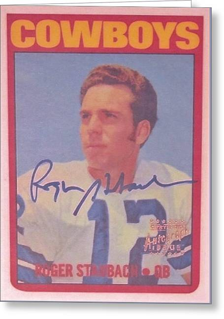 Dallas Cowboys Quarterback #12 Roger Staubach Greeting Card