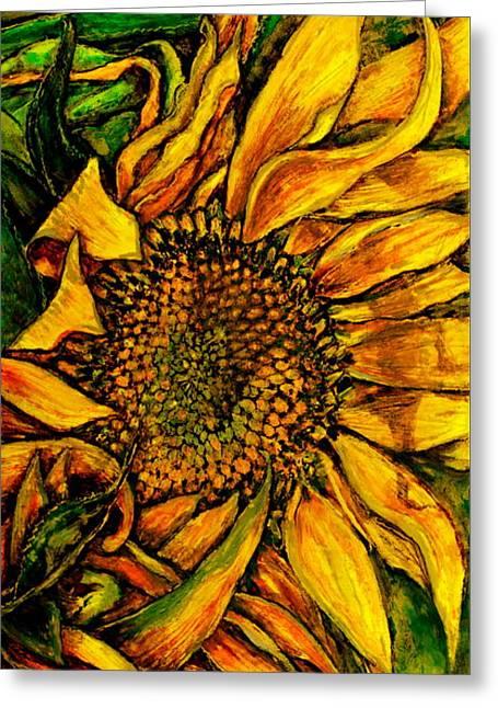 Dancing In The Sun Greeting Card by Linda Simon