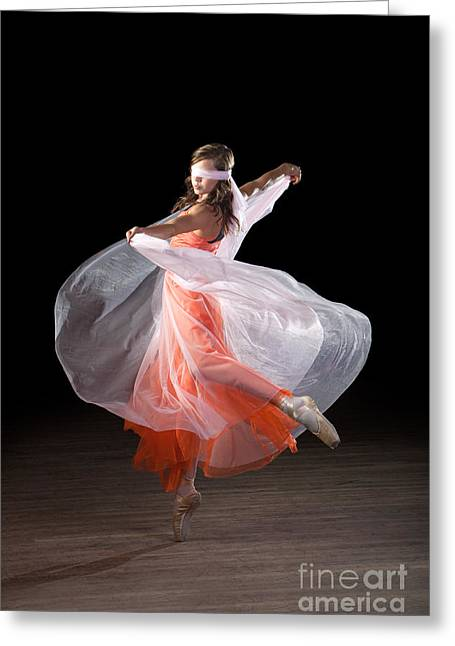 Dancing With Closed Eyes Greeting Card
