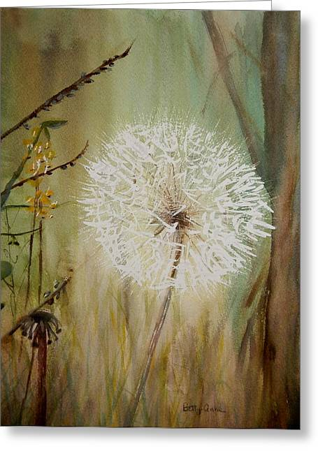 Dandelion Greeting Card by Betty-Anne McDonald