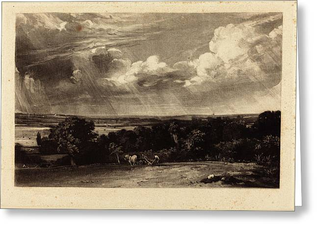 David Lucas After John Constable British Greeting Card by Quint Lox