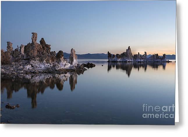 Dawn On Mono Lake Greeting Card by Sandra Bronstein