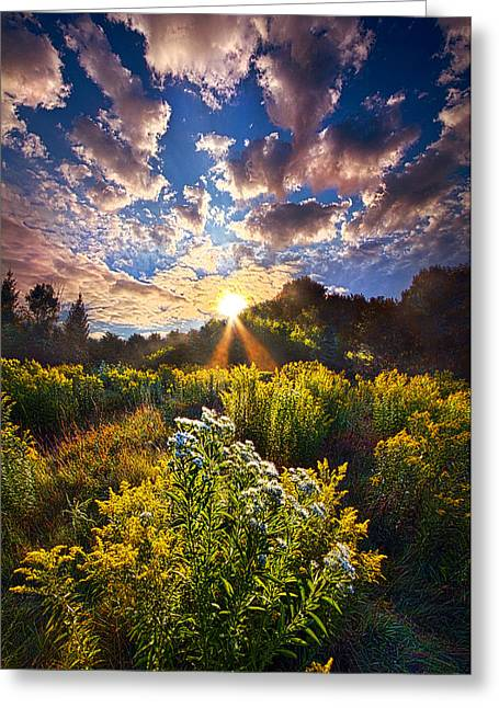 Daybreak Greeting Card by Phil Koch