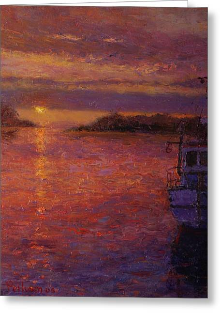 Daybreak Riverton Greeting Card by Terry Perham