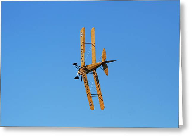 De Havilland Dh 82a Tiger Moth Biplane Greeting Card