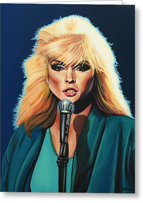 Deborah Harry Or Blondie Painting Greeting Card