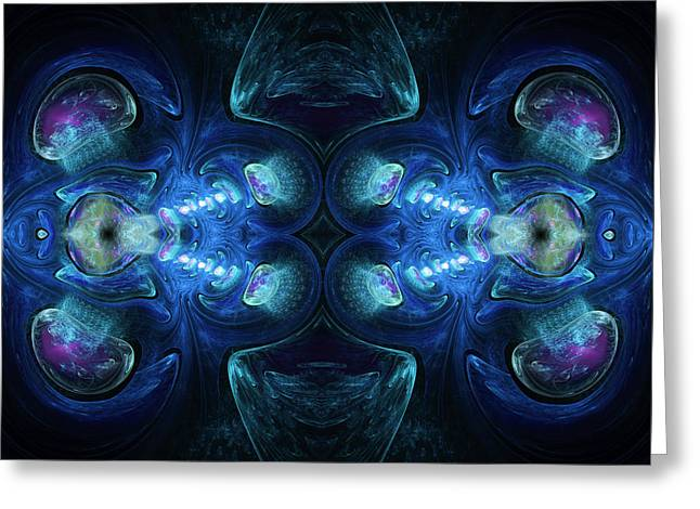 Deep Waters Abstract Greeting Card