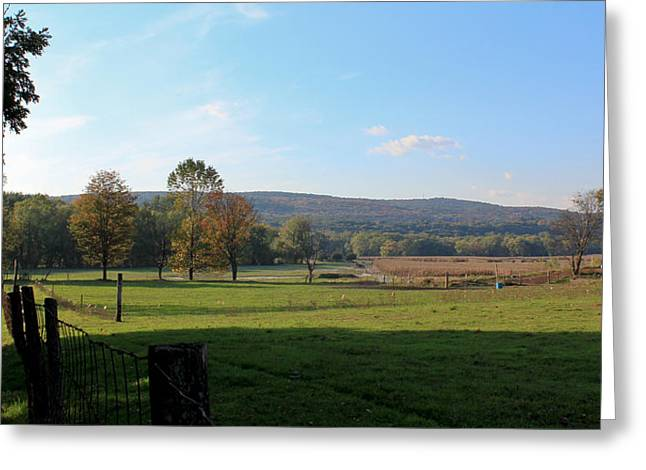 Deerfield Countryside Greeting Card by DustyFootPhotography