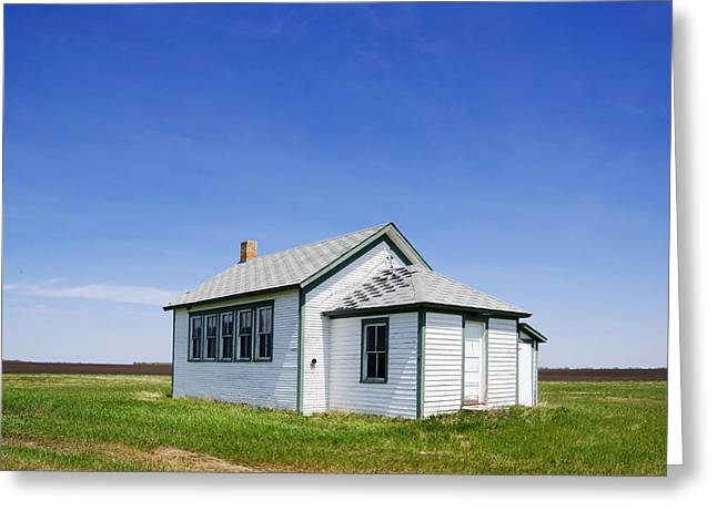 Defunct One Room Country School Building Greeting Card