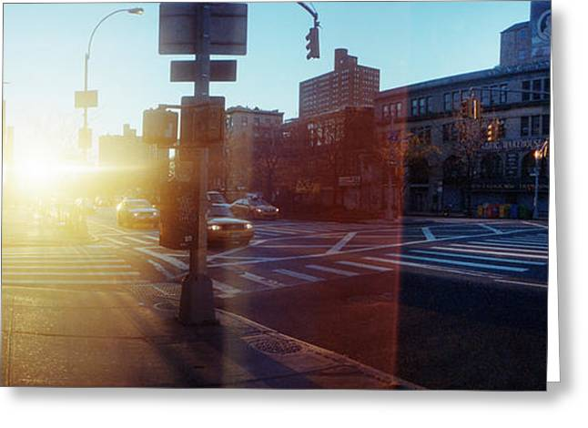 Delancey Street At Sunrise, Lower East Greeting Card by Panoramic Images