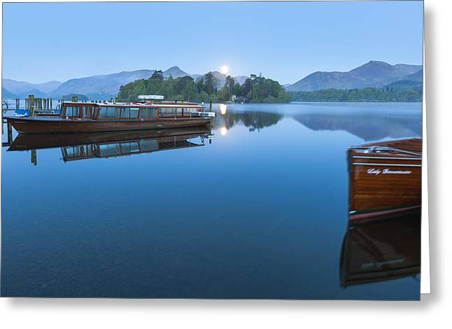 Derwent Water Greeting Card by Sebastian Wasek