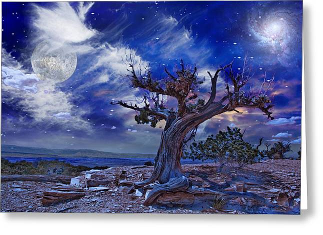 Greeting Card featuring the digital art Desert by Bruce Rolff