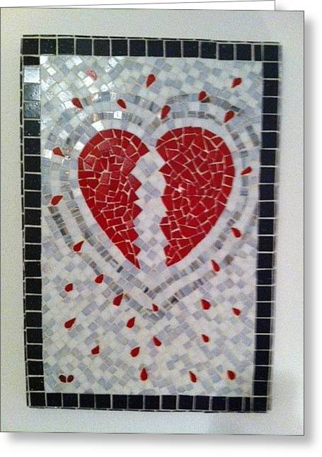 Dexters Heart Greeting Card by Eileen Turpin