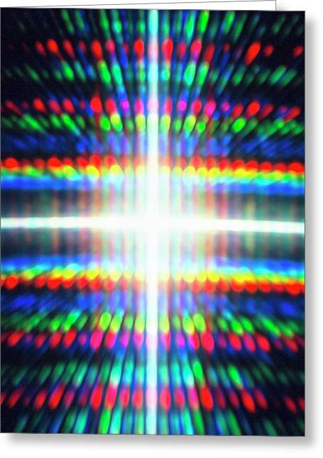 Diffracted Light Pattern Greeting Card by Alfred Pasieka