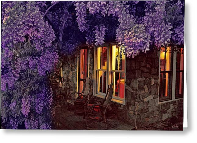 Beneath The Wisteria Greeting Card