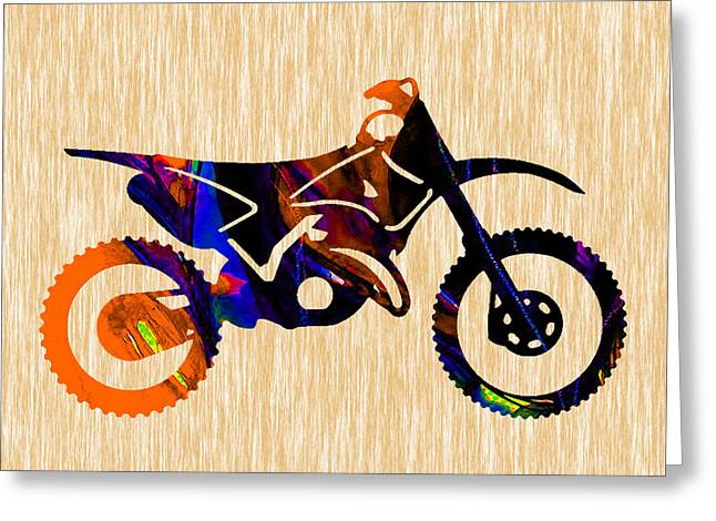 Dirt Bike Greeting Card by Marvin Blaine