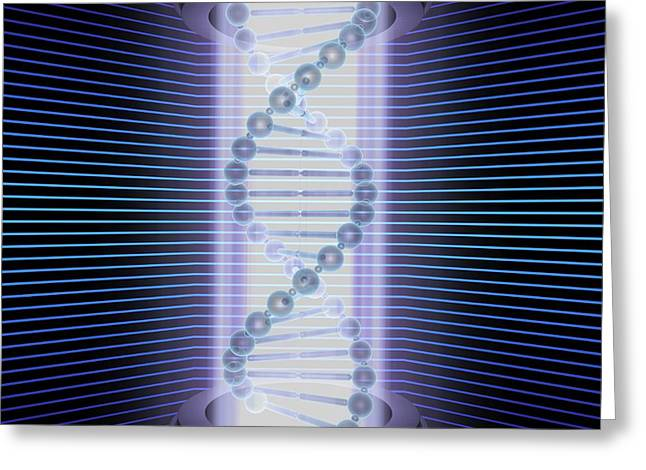 Dna Double Helix Greeting Card by Ktsdesign