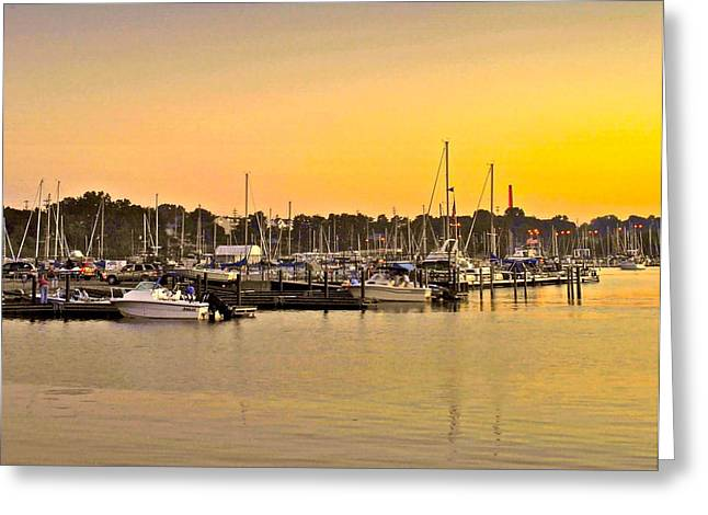 Dock Of The Bay Greeting Card by Frozen in Time Fine Art Photography