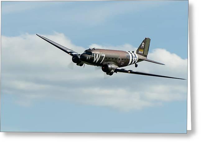 Douglas C-47 Skytrain Whiskey 7 Greeting Card by Gary Eason