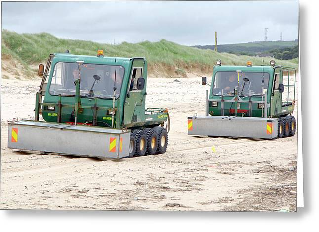 Dounreay Beach Radiation Monitoring Greeting Card