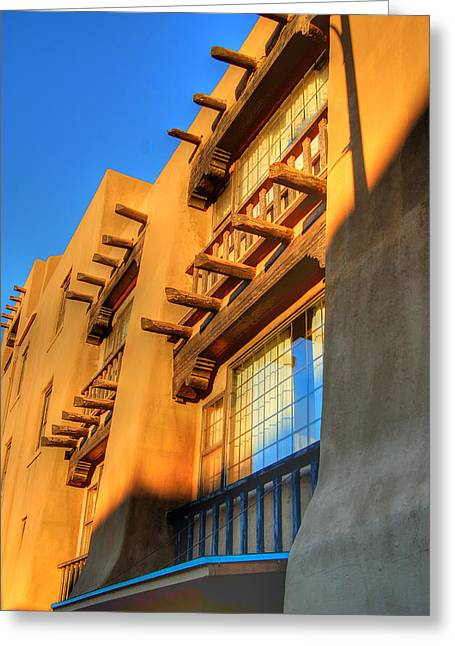 Downtown Santa Fe Greeting Card