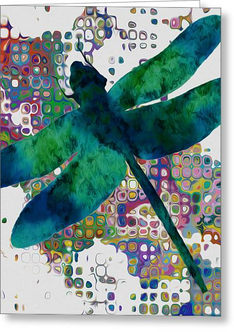 Dragonfly Greeting Card by Jack Zulli