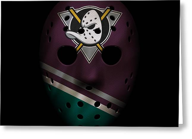 Ducks Jersey Mask Greeting Card by Joe Hamilton