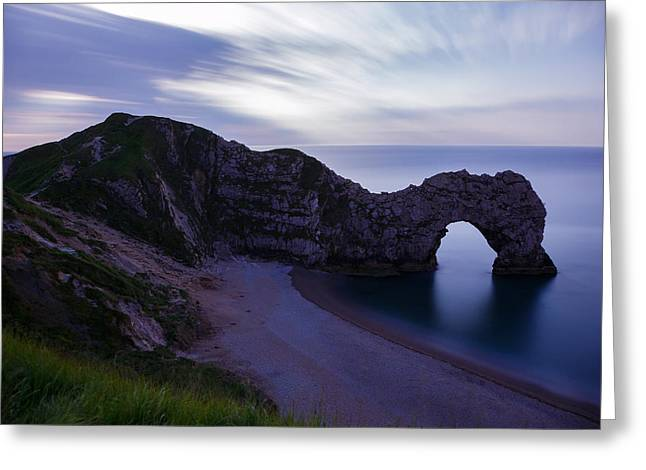 Durdle Door At Dusk Greeting Card