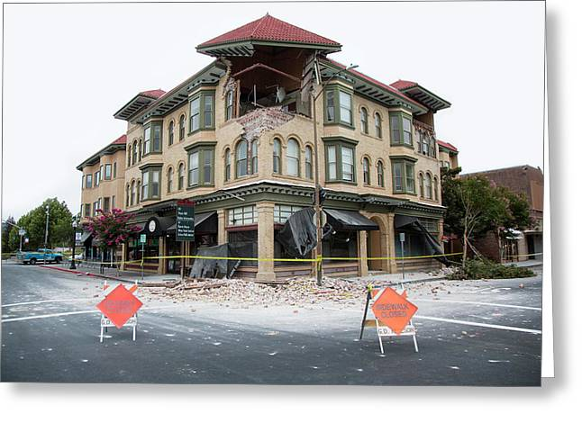 Earthquake Damage Greeting Card by Peter Menzel