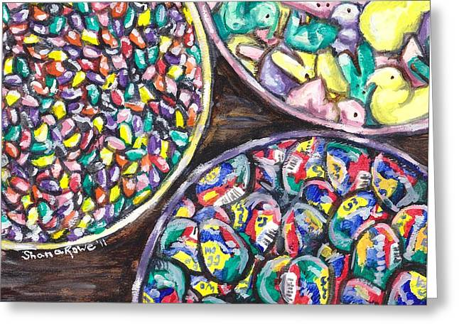 Easter Candy Greeting Card by Shana Rowe Jackson