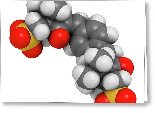 Ecamsule Sunscreen Molecule Greeting Card