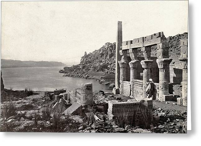 Egypt Island Of Philae Greeting Card by Granger