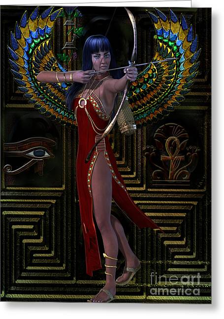 Egypt  Myths And Legends Greeting Card by Shadowlea Is