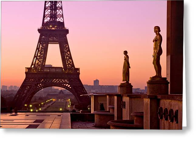 Eiffel Tower At Dawn / Paris Greeting Card