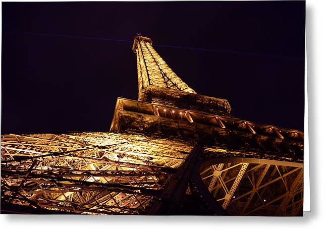 Eiffel Tower Paris France Greeting Card by Patricia Awapara
