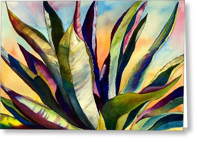 Electric Agave Greeting Card