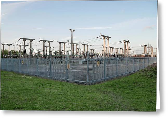 Electricity Substation Greeting Card by Robert Brook