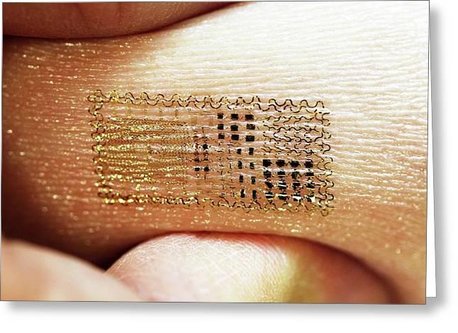 Electronic Circuit Printed Onto Skin Greeting Card
