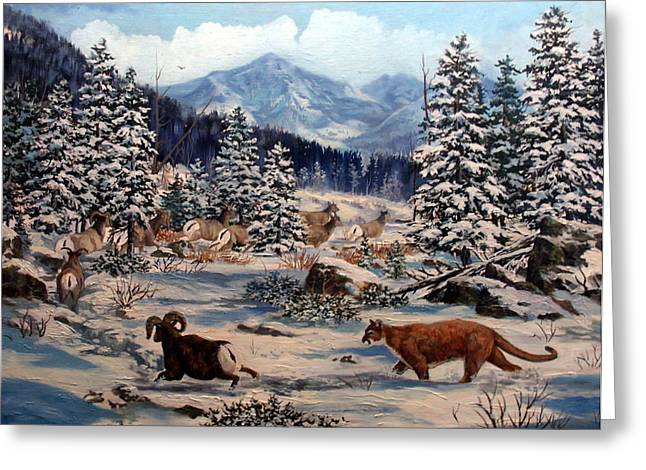 Element Of Suprise Greeting Card by W  Scott Fenton