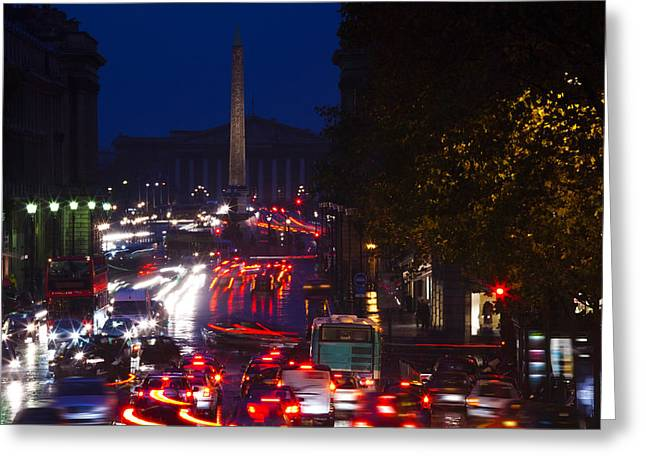 Elevated View Of Traffic On The Road Greeting Card by Panoramic Images