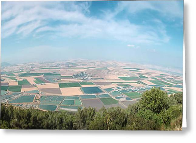 Emek Yizrael Panorama Greeting Card