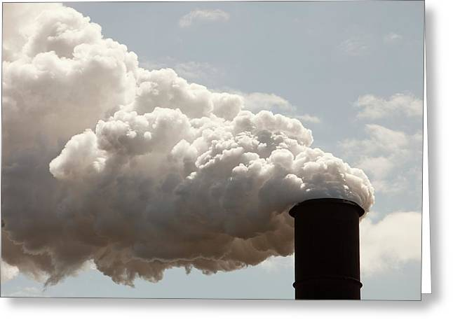 Emissions From The Bluescope Steel Works Greeting Card by Ashley Cooper