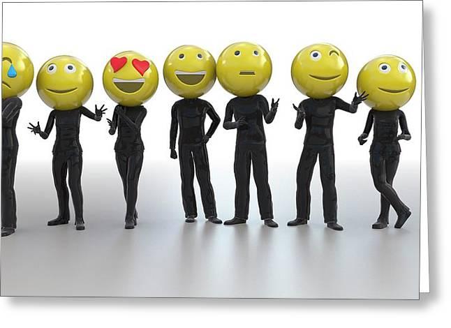 Emojis Greeting Card