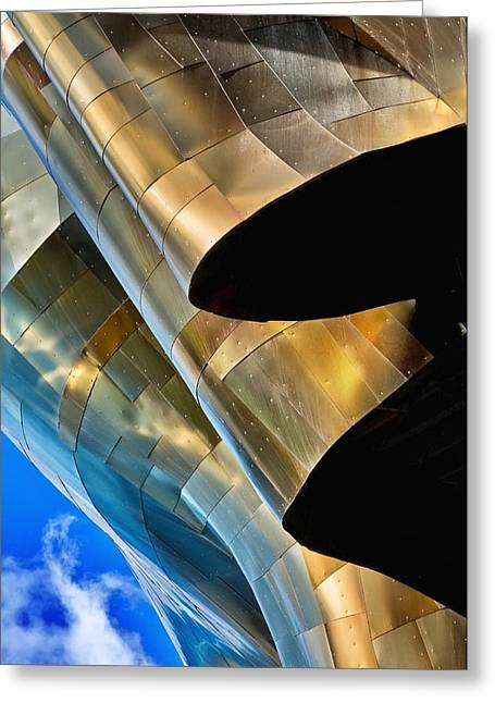 Emp's Lines And Curves Greeting Card