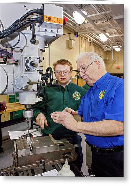 Engineering Academy Workshop Lesson Greeting Card by Jim West