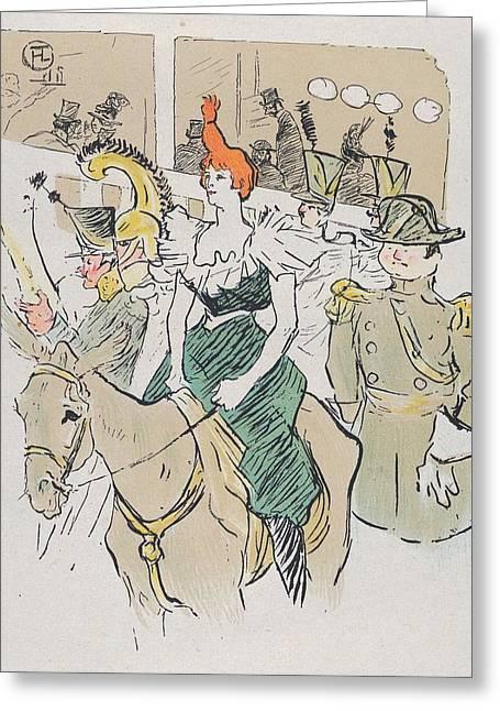 Entree De Cha-u-kao Greeting Card by Toulouse-Lautrec