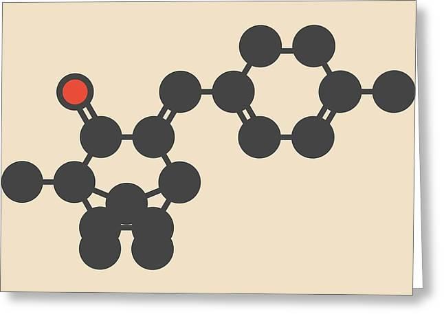 Enzacamene Sunscreen Molecule Greeting Card by Molekuul