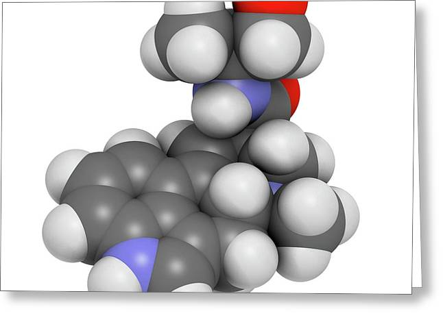 Ergometrine Drug Molecule Greeting Card by Molekuul